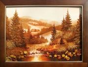 картины из янтаря в ассортименте