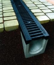 Системы водоотвода,  водостоки,  бетонные желоба,  водоотвод