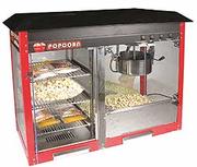 Оборудование попкорн, сладкая вата, зерно кукурузы, добавки и палочки