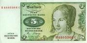 продам две банкноты по 5 немецких марок 1980 года в  хорошем состоянии