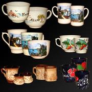 Чашки крымской тематики,  чашки с подписями городов Крыма и Украины