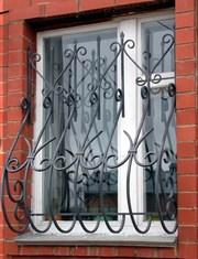 Решетки на окна и двери защитные металлические