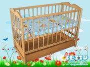 Кроватка детская LETTO «Малютка с ящиком»