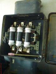 Электрорубильник трехфазный со шкафом марки ЯВЗ 32-42