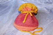 Ажурная шапочка для девочки ручной работы