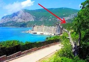 Живописный участок,  ЮБК,  бухта Ласпи,  вид на море и горы