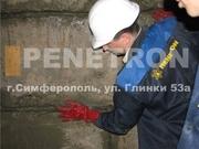 Пенекрит - материал для гидроизоляции швов,  трещин,  стыков в бетоне.