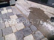 Очистка и влагозащита тротуарной плитки
