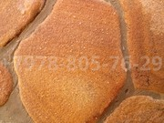 Очистка луганского камня от цементного налёта.Защита от воды